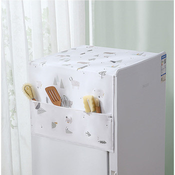 Pokrywa na lodówkę lodówka domowa górna pokrywa torba do zawieszenia wodoodporna torba do przechowywania pokrywa na lodówkę drukowana osłona przeciwpyłowa tanie i dobre opinie CN (pochodzenie) PRINTED Duszpasterska