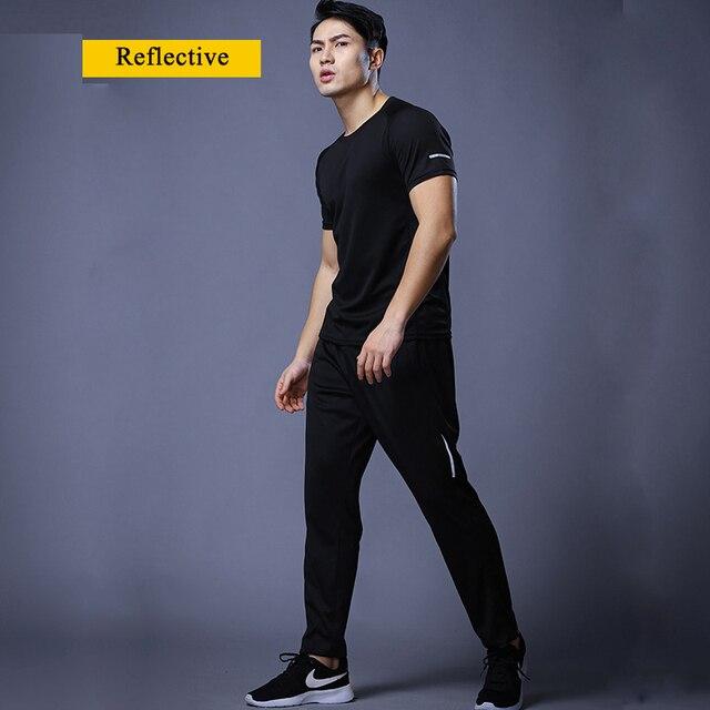 New Jogging Pants Men Breathable Sport Sweatpants Zip Pocket Training Pants Gym Workout Pants Athletic Soccer  Running Trousers 2