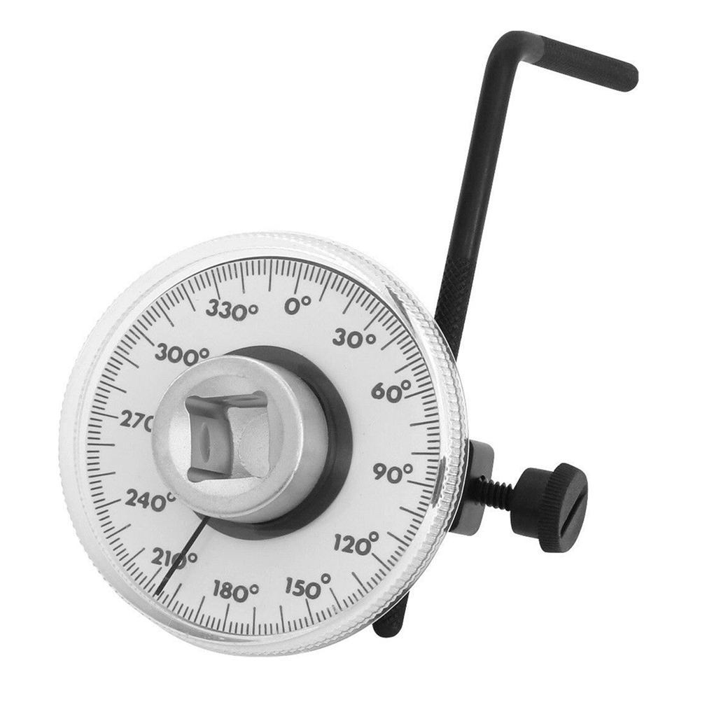 360° 1/2 Drive Torque Angle Gauge Meter Angle Rotation Measure Tool Wrench