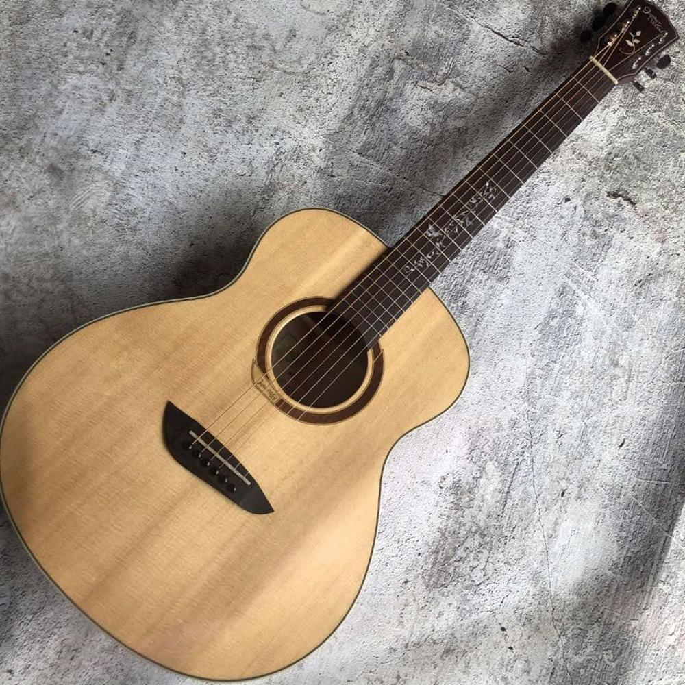 Gopher CA80 MINI acoustic <font><b>guitar</b></font>,GS mini body,<font><b>36</b></font> inches solid spruce top acoustic <font><b>guitar</b></font>,daddario EXP16 strings,Free shipping image