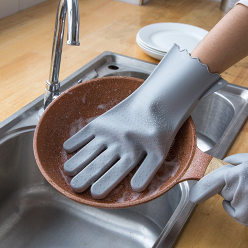 Reusable Household Silicone Practical Multi-functional Eco-friendly Heat-resistance Gloves Household Gloves