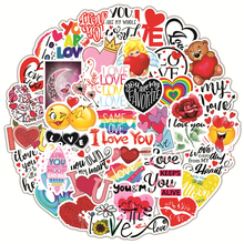 50/100pcs LOVE Stickers For Notebook Laptop Scrapbooking Material Adesivos Pink Stickers Vintage Valentine's Day Craft Supplies
