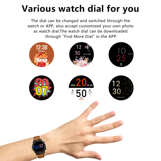 Full Touch Smart Watch Bluetooth Call Play Music Sport Smartwatch Men Women Heart Rate Fitness Tracker Watch For Android Iphone 3