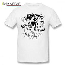 Voodoo T Shirt Voodoo Kitty T-Shirt Cotton Mens Tee Shirt Short Sleeve Big Graphic Cute Beach Tshirt salvimar voodoo