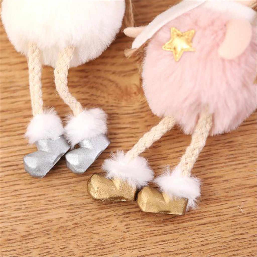 ตกแต่งคริสต์มาส Plush Angel Charm เด็กน่ารักตุ๊กตาตุ๊กตาของขวัญจี้คริสต์มาสของเล่นสำหรับหญิง Elf on The Shelf เสื้อผ้า