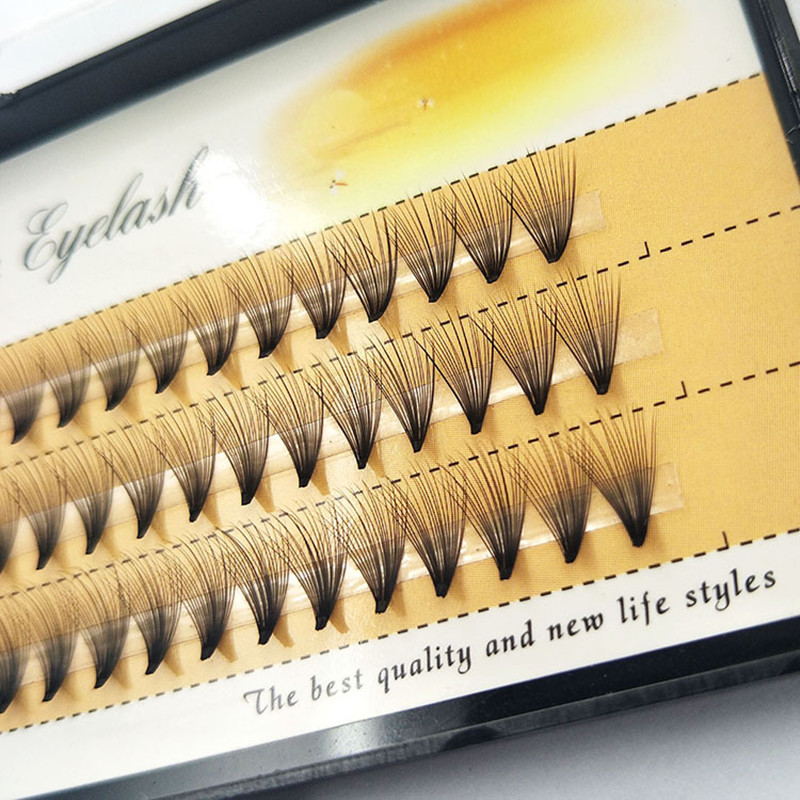 60 Pcs/lot 20D Handmade Natural Eyelash Extension Individual Lashes Nakeds Make Up Eyelash 0.07 C Curl Individual Lashes Makeup
