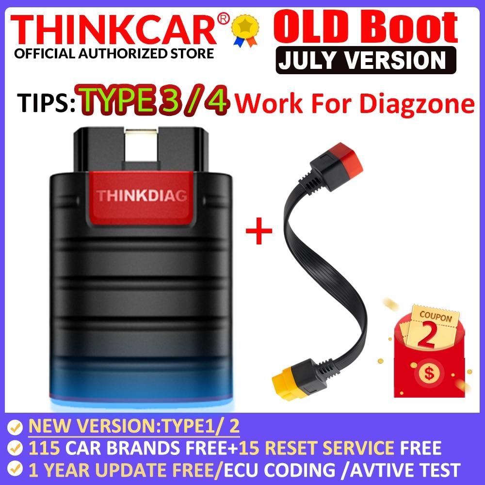 THINKCAR старый ботинок Thinkdiag полная система все программное обеспечение 1 год бесплатно OBD2 диагностический инструмент 15 сброс услуги PK Easydiag