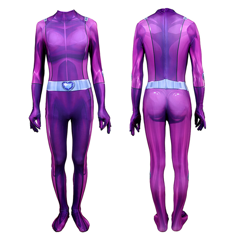 Totally Spies Mandy Cosplay Costume Zentai Adults Kids Lycra Spandex Purple Bodysuit One-Piece Jumpsuits Tight Suit Catsuit