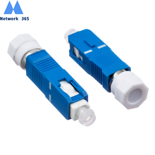 цена на Free Shipping 2pcs/lot  FC Female to SC Male Fiber Optic Adapter Singlemode FC/UPC-SC/UPC Fiber Optical Adapter