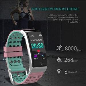 Image 2 - E08 سوار ذكي ECG PPG قياس ضغط الدم جهاز تعقب للياقة البدنية سوار ساعة مقاوم للماء مراقب معدل ضربات القلب