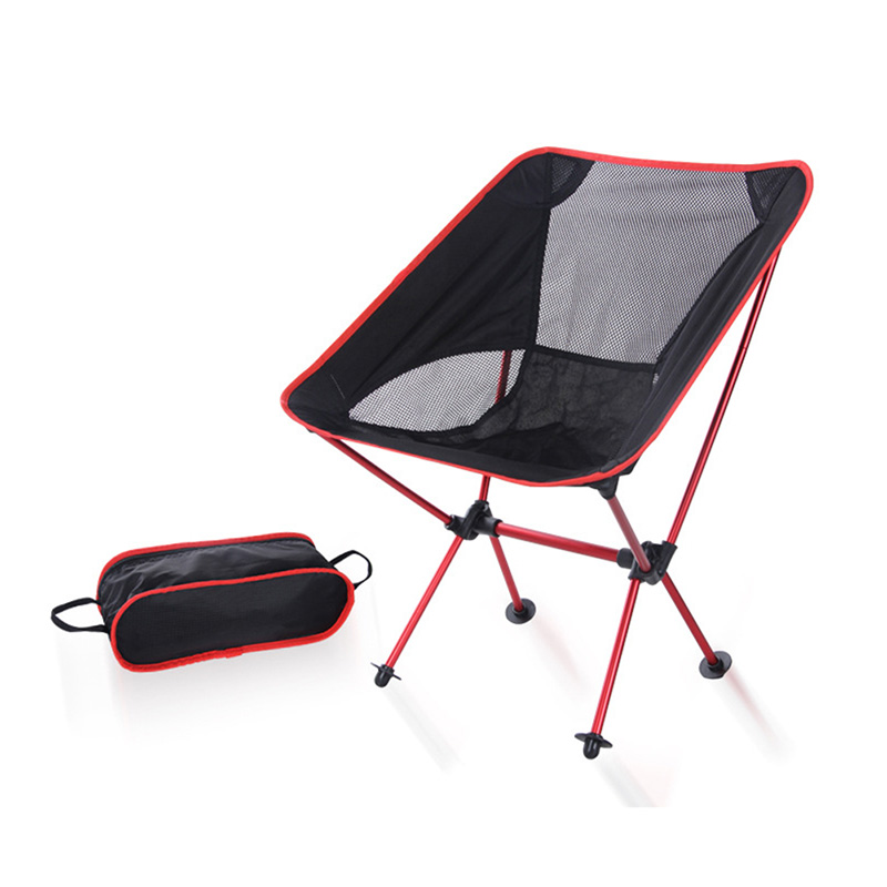 Portable Ultralight Folding Chair With Storage Bag Aluminum Alloy Oxford Chairs For Outdoor Sport Camping HFing