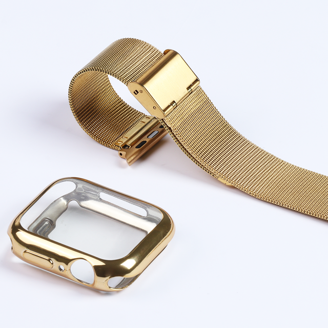 Milanese Watch Band + Case For Apple Watch Series 6 SE 5 4 40mm 44mm 38mm 42mm Stainless Steel Strap Wrist Bracelet for iwatch 2