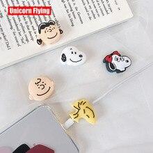Linxiang östlichste Universal Cartoon Snoopys Charlie Brown Ladegerät Draht Halter Organizer Schutz USB Telefon Daten Kabel Protector
