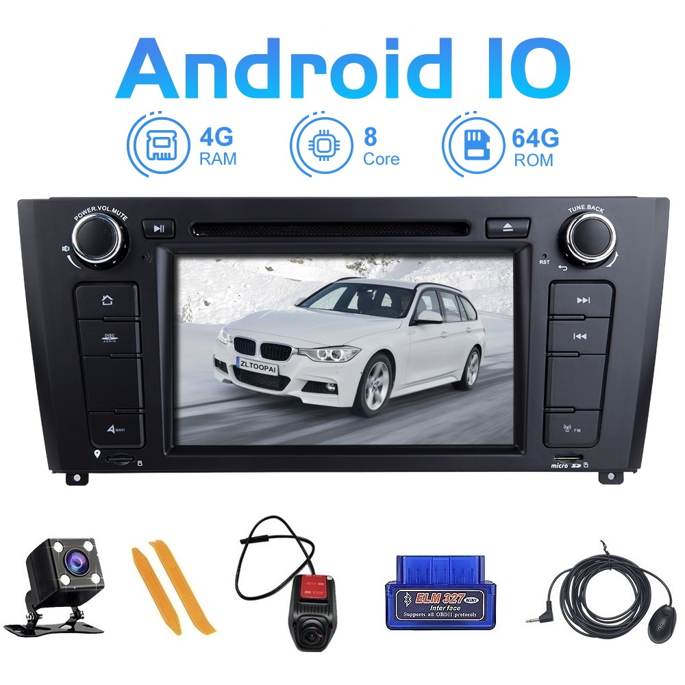 ZLTOOPAI Eight Core Android 10 Car Multimedia Player For BMW E87 BMW 1 Series E88 E82 E81 I20 GPS Navigation Radio Stereo Audio image