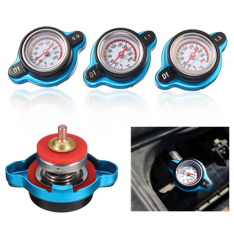 1.3bar Moto 1.1 Bar Cap Gauge 0.9 Bar Water Radiator Thermo Temperature Thermostatic Tank Cover Water tank cover with Watch