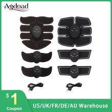 USB شحن ABS EMS جهاز تدريب العضلات الذكية اللياقة البدنية الكهربائية اللاسلكية البطن العضلات محاكاة محفز Musculaire Lectrique