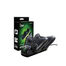 Xbox One One X One S ładowarka do pada podwójne gniazdo szybkie dokowanie stacja ładowania 2x1000mAh akumulator tanie tanio ONLENY Brak