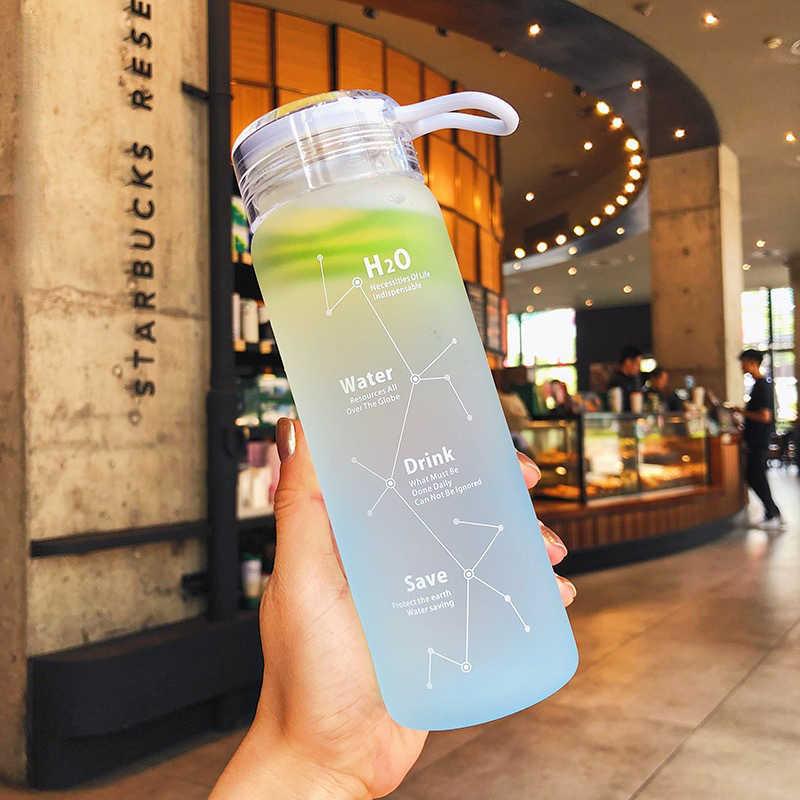 Permen Berwarna Tidak Bisa Dihancurkan Matte Anti Bocor Kaca Ketel 500 Ml Berbakat Botol Air Portabel untuk Perjalanan Yoga Lari berkemah