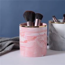 Коробка для хранения макияжа Скандинавская керамическая мраморная