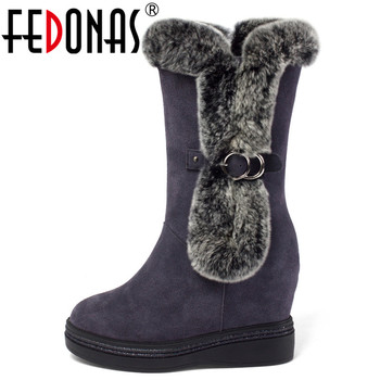 FEDONAS Plus Velvet Short Boots Warm Women Winter Warm Ankle Boots Snow Boots  Party Casual Shoes Woman Side Zipper Boots