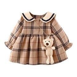 Платья принцессы для маленьких девочек, детское пальто с длинным рукавом, платья для младенцев, одежда на день рождения, милое и красивое си...