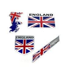 Liga de alumínio resistente ao calor inglaterra reino unido bandeira união jack escudo emblema emblema adesivo decalque para lotus mg chevrolet ford skoda vw