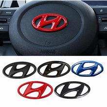Автомобильная наклейка на руль эмблема автомобильный внутренний значок наклейка для Hyundai Mistra Lafesta Elantra Accent IX35 I20 I30 Azera Sonata