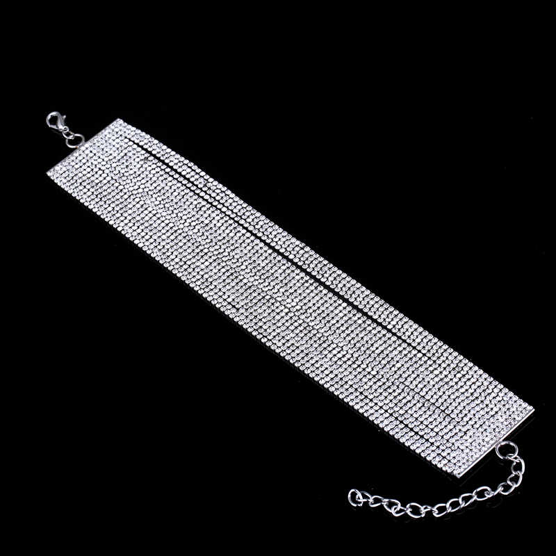 Multi Rijen Crystal Rhinestone Choker Kettingen Luxe Diamante Collares Mujer 2019 Celeb Glam Sieraden Accessoires voor Vrouwen