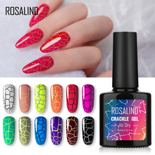 ROSALIND Crackle Gel Polish Cracking Nail Lacquer Quick Drying Nail Art Gel Manicure For UV Semi Permanent Base Top Coat