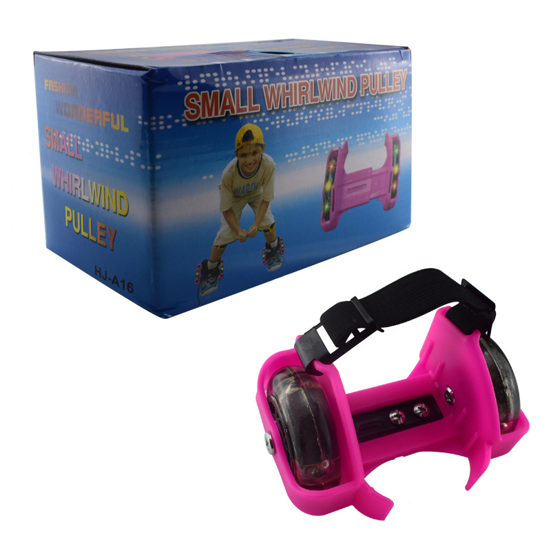 Flashing Roller Kids Gift Whirlwind Pulley Heel Shoes Adjustable Safe Durable Children Skating Heel Shoe Flashing Roller Tool
