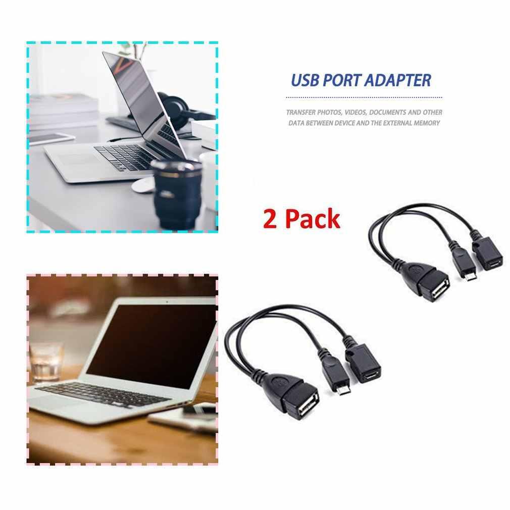 2 PCS Porta Usb Adattatore Terminale Cavo Otg Per Il Fuoco Tv 3 O 2nd Gen Bastone Fuoco