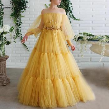 Long Prom Dresses Lace Appliques Beaded Pleats Formal Evening Dress with Sleeves Party Gowns Vestido De Festa недорого
