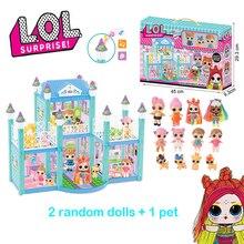 Оригинальный сюрприз ЛОЛ кукол DIY играть дома куклы игры вилла с 2 случайные аниме рисунок игрушки для девочки день рождения подарки