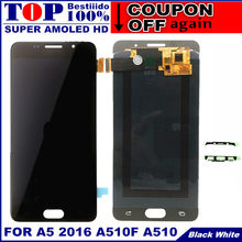 100% Test Super AMOLED LCD for Samsung Galaxy A5 2016 A510F A510M A510FD A5100 A510Y LCD Display Touch Screen Digitizer Assembly(China)