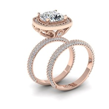 FDLK New Luxury Rose Gold Ring White Ring Rhinestone Ring Anniversary Gift Bridal Engagement Wedding Ring Jewelry fdlk luxury alloy two tone rose gold color ring anniversary gift crystal jewelry vine flower bride engagement ring set