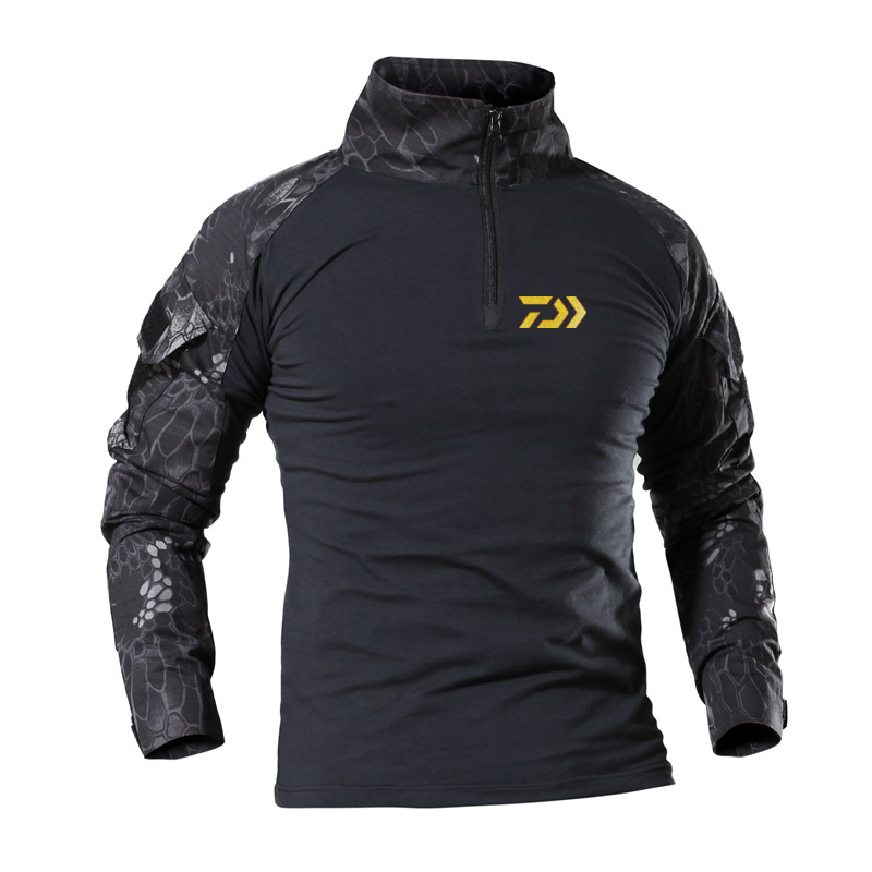 Daiwa Fishing Clothes Summer Sun Protection Fishing T Shirt Army Breathable Anti-Mosquito Outdoor Camping Travel Fishing Shirt