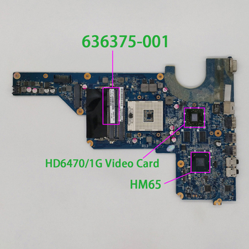 for HP Pavilion G4 G6 G7T Series 636375-001 DA0R13MB6E0 HD6470/1G HM65 Laptop Motherboard Mainboard Tested & Working Perfect new laptop palmrest upper case keyboard bezel for hp pavilion 15 bs 15 bw 15t bs 250 g6 255 g6 256 g6 925008 001 am204000100