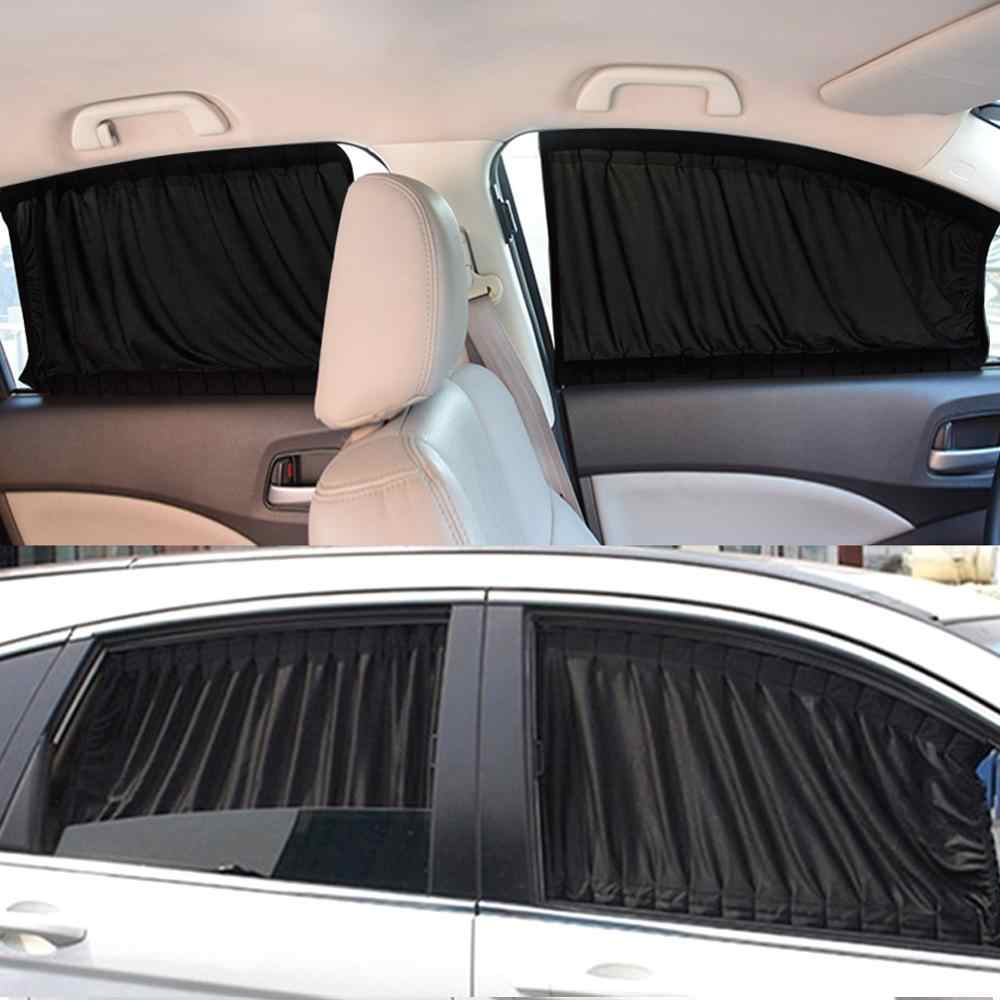 Auto Tenda Da Sole Finestra Parasole Drape Visor Tenda Mantovana Parabrezza Ombra Anti-zanzara Regolabile Pieghevole Estate Car Styling