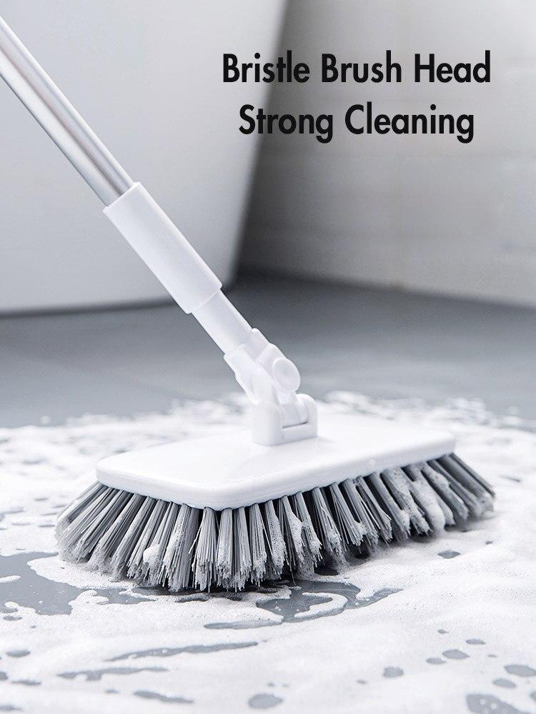 Выдвижная щетка для пола для очистки ванной напольная плитка щетка для очистки мытья туалетной щетки с длинной ручкой