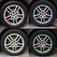 цена на Car tire reflective stickers Car DIY Modified Stickers Car Motorcycle Wheel Reflective Stickers Automotive Supplies