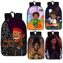 Backpack Shoulder-Book-Bag Teenage Girls Boys Children for Africa Student Kids Afro Print