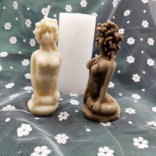 Medusa Beauty and Snake Candle Mold Naked Lady Sitting on Knees Bakeware Tools