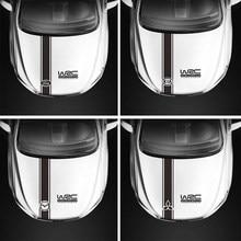 Auto Engine Bonnet Trim Vinyl Decal Car Body Exterior Stickers For Mitsubishi Hyundai Mazda Ford Honda Toyota Buick Chevrolet