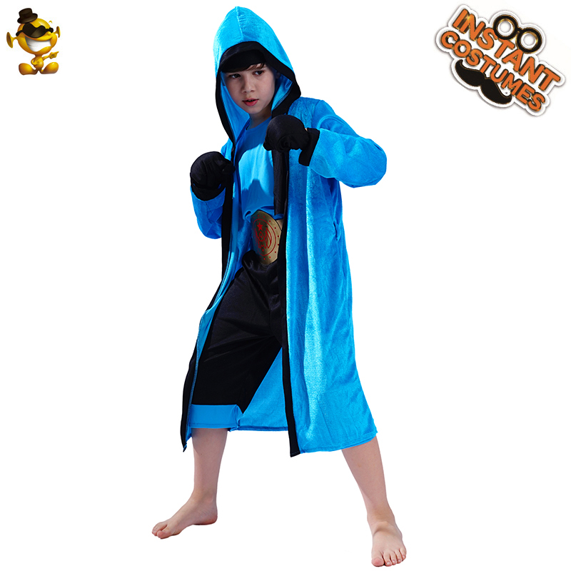Boys Kids Childs World Boxing Boxer Fighter Champion Fancy Dress Costume Outfit