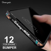 العصرية المعادن الهاتف الوفير آيفون 12 برو الكرتون رقيقة آيفون 12 قضية الهاتف آيفون 12 Mini 12 برو ماكس غطاء حقيبة فاخرة