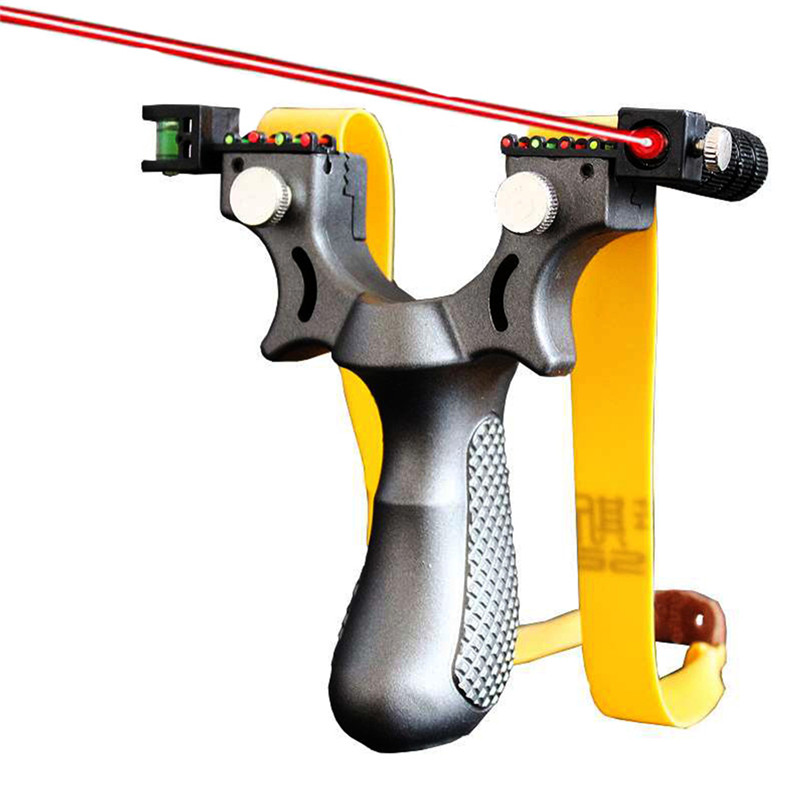 Grande potenza di gomma per slingshot caccia catapulta in metallo slingshot ammo in pelle piatta slingshotprofessional caccia slingshot