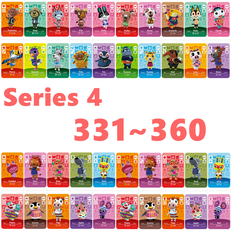 For NS Games Series 4 (331 To 360) Animal Crossing Amiibo Card New Horizons Animal Crossing Card Work