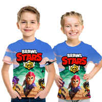 New 2019 Summer Shooting Game t shirt children 3D Print Brawl Stars t-shirt Fashion Cartoon streetwear Boys and girls tshirt