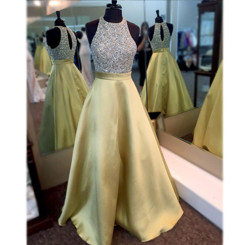 Real Photos Crystal Beading Robe De Soiree Keyhole Open Back Off Shoulder Long Prom Gown Custom Made Formal Bridesmaid Dresses