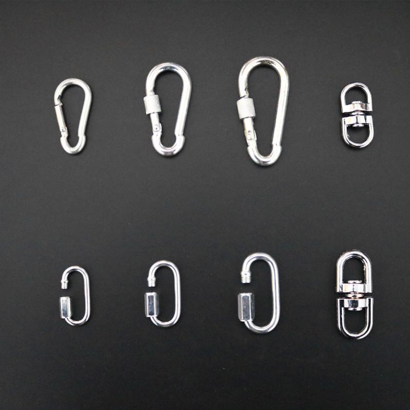 Pet Traction Rope Metal Buttons Hook Rotating Ring Insurance Buckle Connecting Ring Connect Buckle Dog Chain Lock Dog Buckle